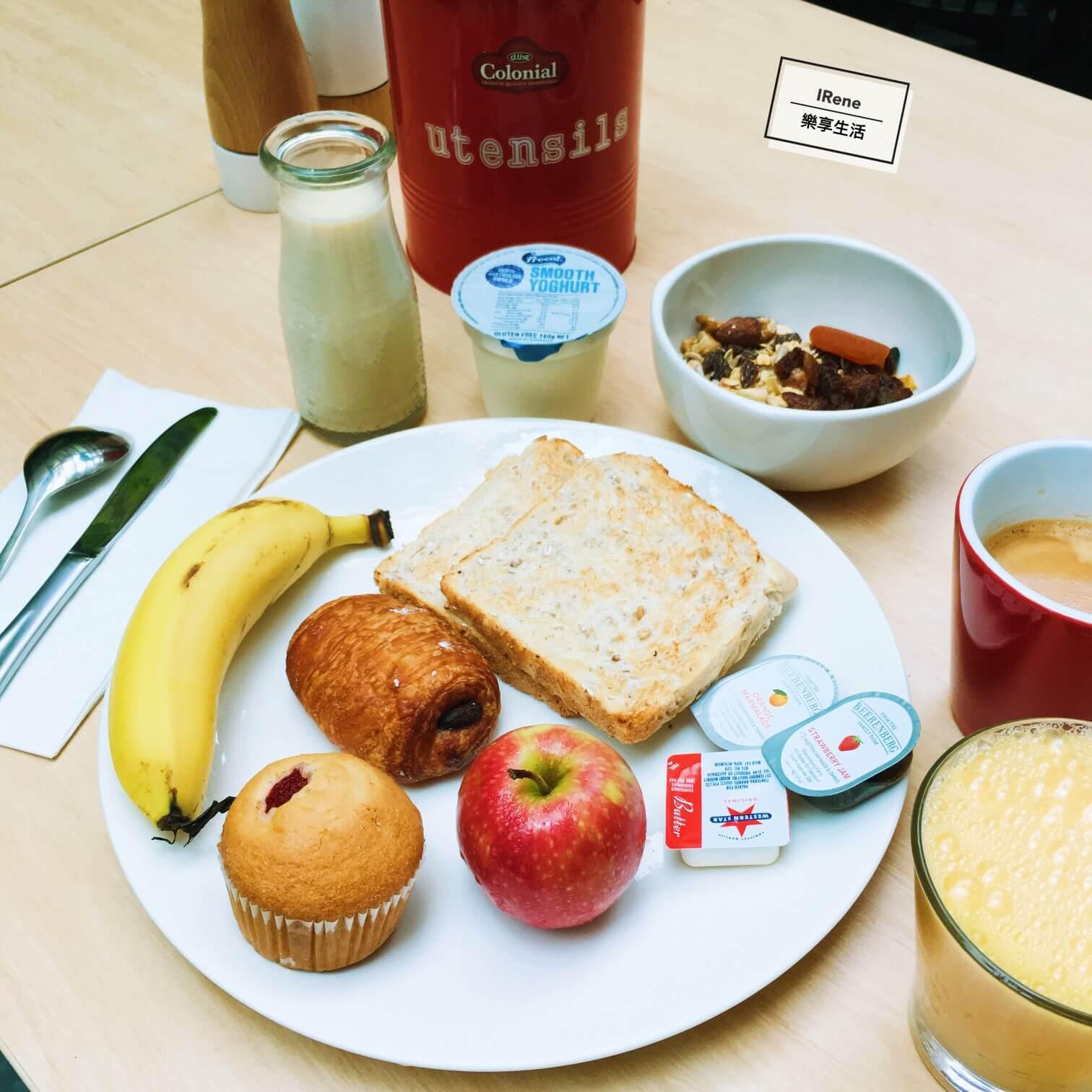 雪梨住宿推薦-雪梨Metro Aspire Hotel Sydney飯店早餐
