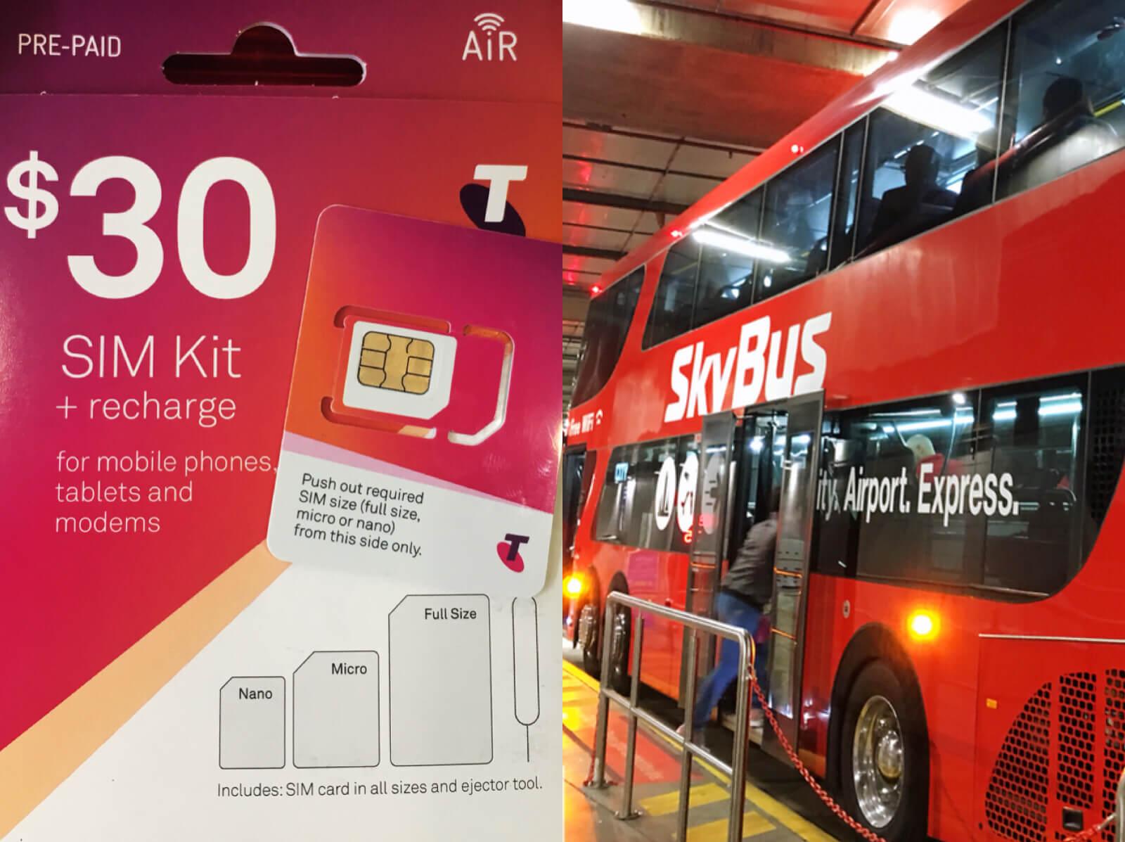 【墨爾本】澳洲上網電話卡+機場巴士SkyBus購票