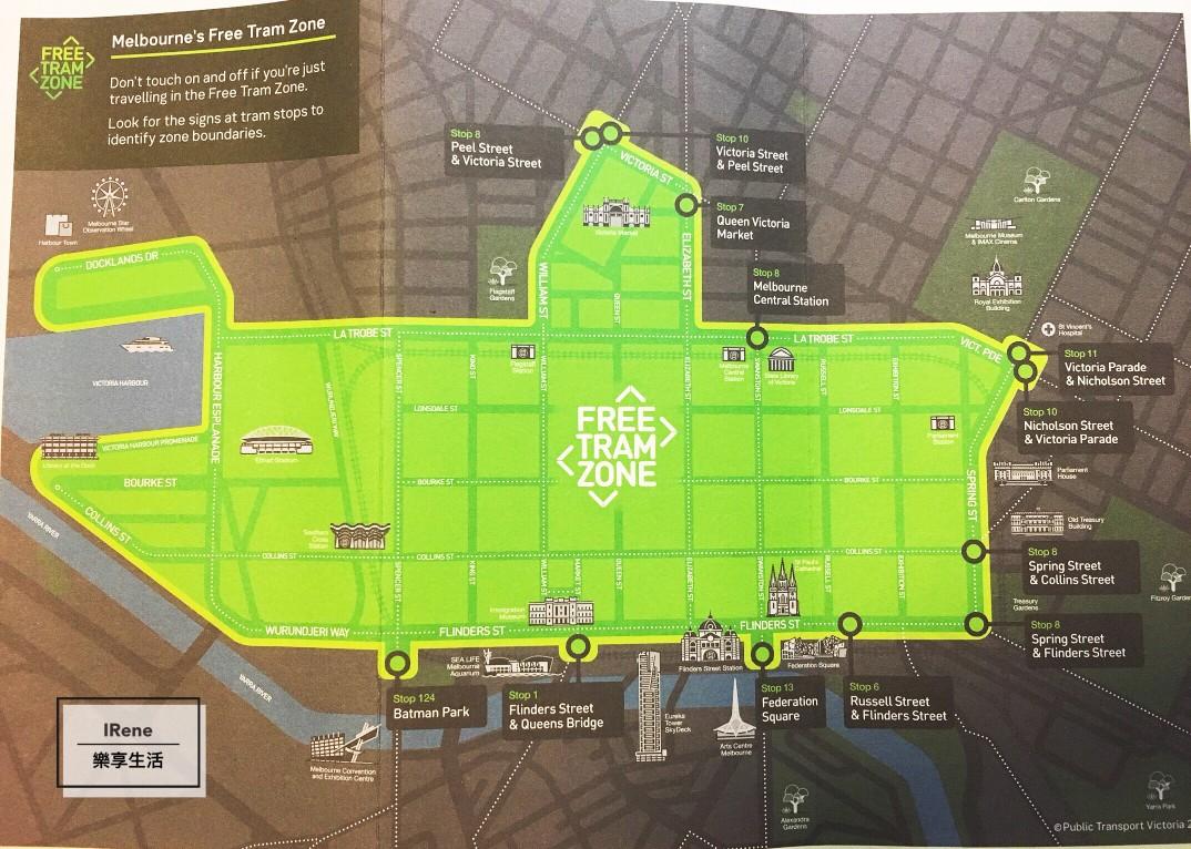 墨爾本交通 免費電車區 Melbourne Free Tram Zone