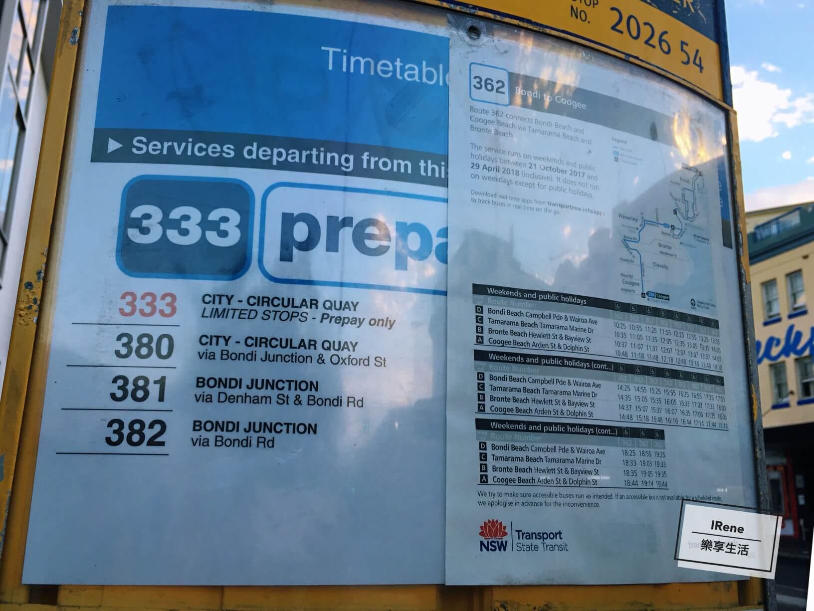 大眾交通公車- Bondi Beach 邦代海灘 邦迪海灘