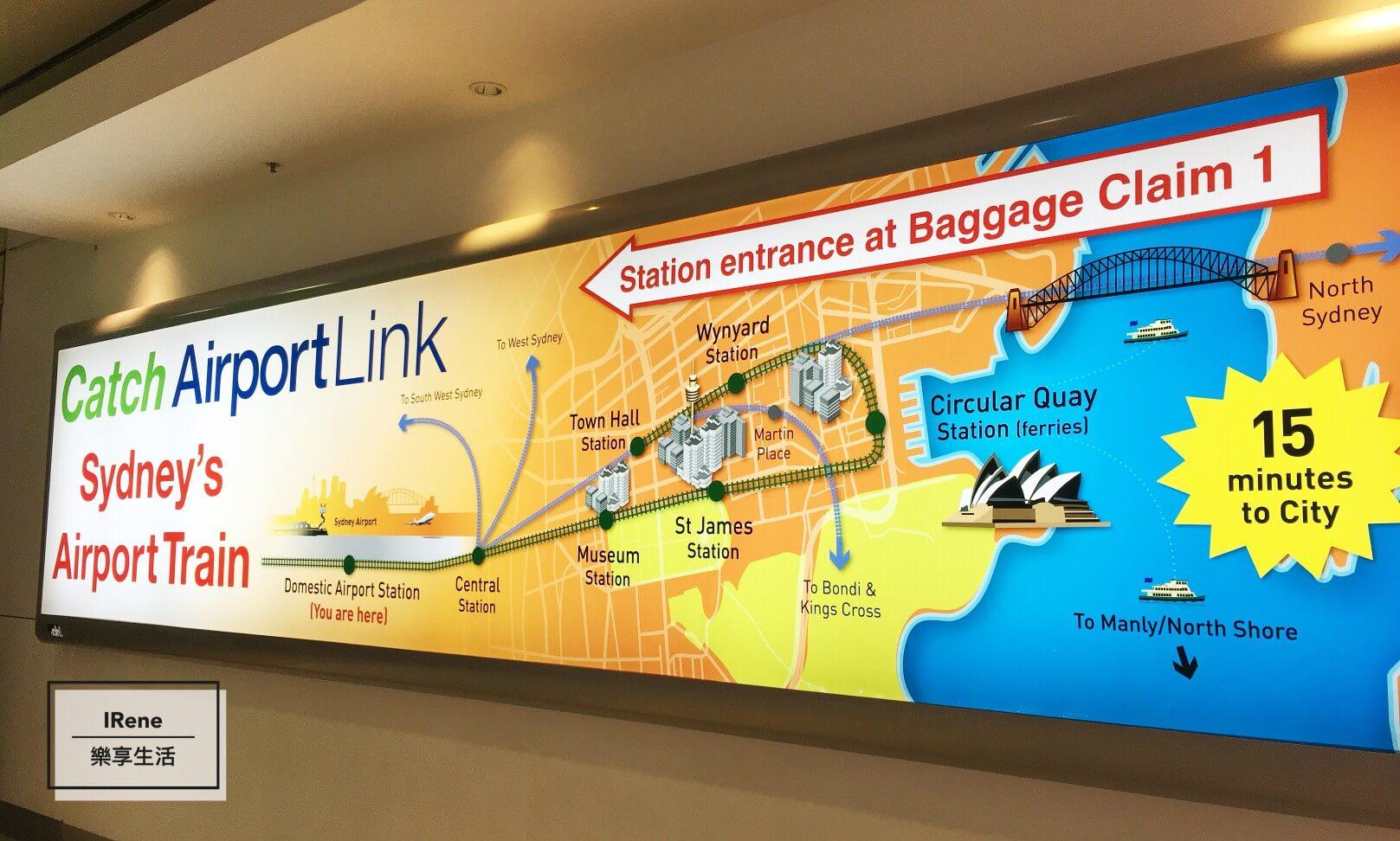 [雪梨交通] 從雪梨機場到市區就靠它-雪梨機場線T8